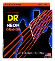 DR NOE7-9 Neon Orange Комплект струн для 7-струнной электрогитары, никелированные,с покрытием, 9-52