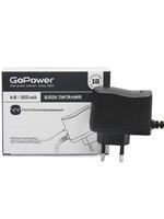 GoPower 500mA 9V 5,5x2,1/12мм (00-00015341) Блок питания нестабилизированный отрицательная полярность (1/100)