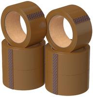 Скотч Без бренда ПП 48мм*66м 43мкм упаковочный акрил коричневый (6/36) (00-00018308)