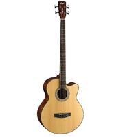Cort SJB5F-NS Acoustic Bass Series Электро-акустическая бас-гитара, с вырезом, цвет натуральный
