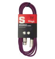 STAGG SMC3 CPP- микрофонный шнур, xlr-xlr, длина 3 метра