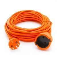 Электрическая мануфактура PC-E1-B-10 PowerCube Удлинитель в бухте 6А. 1 розетка. 10м. 2х0,75мм2 оранжевый