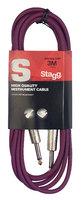 STAGG SGC3DL CPP - гитарный шнур, jack-jack, длина 3 метра, цвет фиолетовый