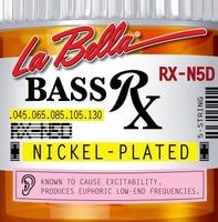 La Bella RX-N5D RX – Nickel Комплект струн для 5-струнной бас-гитары, никелированные, 45-130
