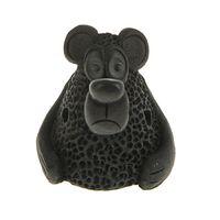 Керамика Щипановых SM02 Свистулька маленькая Медведь, черная