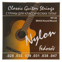 Fedosov NS128 Brass Round Wound Комплект струн для классической гитары, нейлон/латунь, 28-47