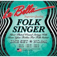 """La Bella 840 Folksinger Комплект струн для классической гитары с наконечником """"шарик"""""""