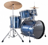 Sonor 17200108 SMF 11 Studio Set WM 13004 Smart Force Барабанная установка, синяя, (20x17.5 BD WM, 14x5.5 SDW, 10x8 TT, 12x9 TT, 14x14 FT, 4-pc HW Set)