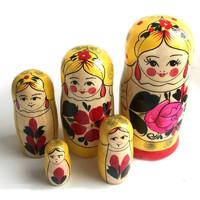 "Хохлома LHM10108 Матрешка традиционная 5 кукольная ""Сударушка"""