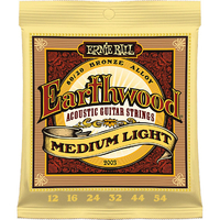 Ernie Ball 2003 Earthwood 80/20 Струны для акустичекой гитары, бронза 80/20, Medium Light 12-54