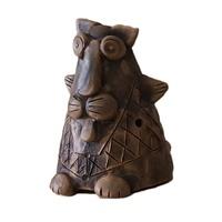 Керамика Щипановых SB01 Свистулька большая Кот, обварная
