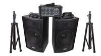 Soundking ZH0602D15LS Комплект акустической системы, микшер, микрофон, кабели, 2х250Вт