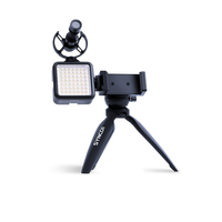 Synco Vlogger Kit 2 набор для влогеров, микрофон, кабель для телефона, ветрозащита, шокмаунт, подсветка, мини-стойка, держатель для смартфона