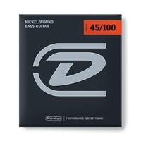Dunlop DBN45100 Комплект струн для бас-гитары, никелированные, Medium Light, 45-100