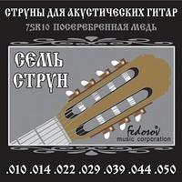 Fedosov 7SR10 Комплект струн для 7-струнной акустической гитары, посеребренная медь, 10-50