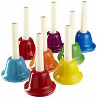Fleet HB8 Цветные колокольчики с язычками, на ручках, 8шт по нотам в упаковке.