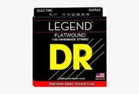 DR FL-11 LEGEND Комплект струн для 6-струнной электро-гитары с полированной плоской обмоткой. 11-14-22-28-38-48 USA