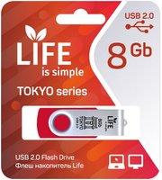 LIFE TOKYO 8GB Red USB 2.0 Флешка