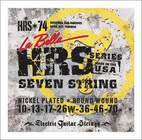 La Bella HRS-74 Hard Rockin Steel Комплект струн для 7-ми струнной электро-гитары