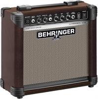 Behringer AT108 2-канальный комбоусилитель для ак. инструментов с эмуляцией лампового звучания 15 Вт