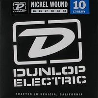 Dunlop DEN1052 Комплект струн для электрогитары, никелированные, Light/Heavy, 10-52