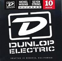 Dunlop DEN1056 Комплект струн для 7-струнной электрогитары, никелированные, Medium, 10-56