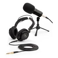 Zoom ZDM-1PMP набор для подкастов - динамический микрофон ZDM-1, наушники закрытого типа ZHP-1, регулируемая стойка для микрофона TPS-4, кастом-ветрозащита и микрофонный кабель XLR, 2 м