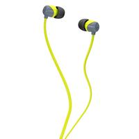 Skullcandy S2DUFZ-385 JIB IN-EAR W/O MIC, Наушники проводные внутриканальные без микрофона серые/цвет лайма