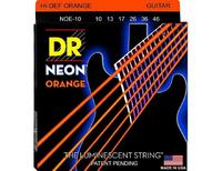 DR NOE-10 Neon Orange Комплект струн для электрогитары, никелированные, с покрытием, 10-46