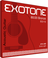 EXOTONE EG110 80/20 Bronze .010-.049 Extra Light