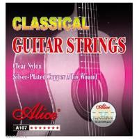 Alice AC107BK-H Комплект струн для классической гитары, черный нейлон [20]