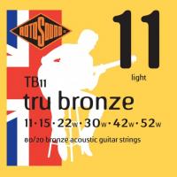 ROTOSOUND TB11 STRINGS 80/20 BRONZE струны для акустической гитары, покрытие - бронза 80/20, 11-52 (A026749)