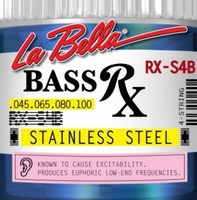 La Bella RX-S4B RX – Stainless Комплект струн для бас-гитары, нерж.сталь, 45-100