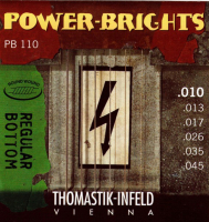 Thomastik PB110 Power-Brights Regular Bottom Комплект струн для электрогитары, 10-45