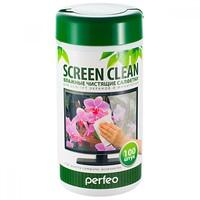 "Салфетки чистящие Perfeo ""Screen Clean"", для LCD/TFT экранов и мониторов (100)"