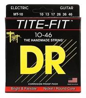 DR MT-10 Tite-Fit Комплект струн для электрогитары, никелированные, Medium, 10-46