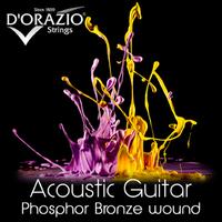 D'ORAZIO 21 Phosphor Bronze Струны для акустических гитар (Пр-во Италия) (11-15-23-30-39-50) Light