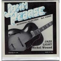 John Pearse 2600 Nickel Wound Jazz Light 11-50