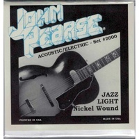 John Pearse 2600 Nickel Wound Jazz Light 11-50
