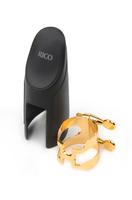 RICO HTS1G H-LIGATURE Лигатура с колпачком для саксофона-тенор, позолоченная