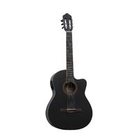 Barcelona CG11CE/BK Классическая электроакустическая гитара, 4/4