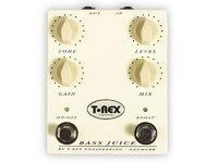 T-REX Bass Juice Педаль эффектов Distortion для бас гитары (Level, Gain, Tone, кнопка Boost)