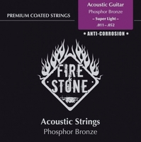 FIRE&STONE Acoustic Guitar 80/20 Bronze Super Light 11-52 Coated струны для акустической гитары