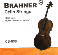 BRAHNER CS-808 Струны для виолончели стальные, в хромо-никелевой плоской обмотке