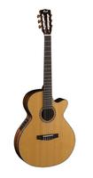 Cort CEC7-NAT Классическая гитара со звукоснимателем, с вырезом, цвет натуральный