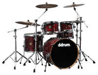 DDrum Dios Ash 22 5 CR - ударная установка, 5 барабанов, Cherry Red
