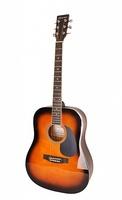 Caraya F601-BS Акустическая гитара, с вырезом, санберст