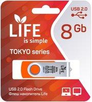 LIFE TOKYO 8GB Orange USB 2.0 Флешка