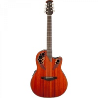 OVATION CE44P-PD Elite® Plus Celebrity® Mid-Depth - High-gloss Natural Padauk Электроакустические гитары