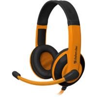 Defender Игровая гарнитура Warhead G-120 черный + оранжевый, кабель 2 м